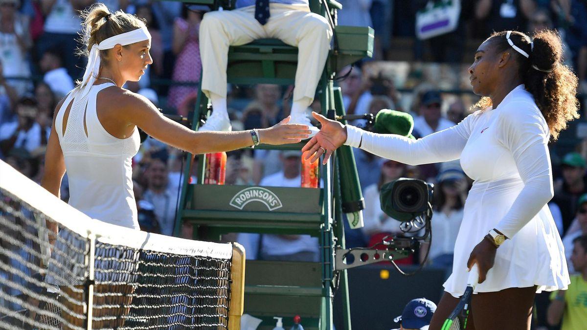 Arantxa Rus and Serena Williams