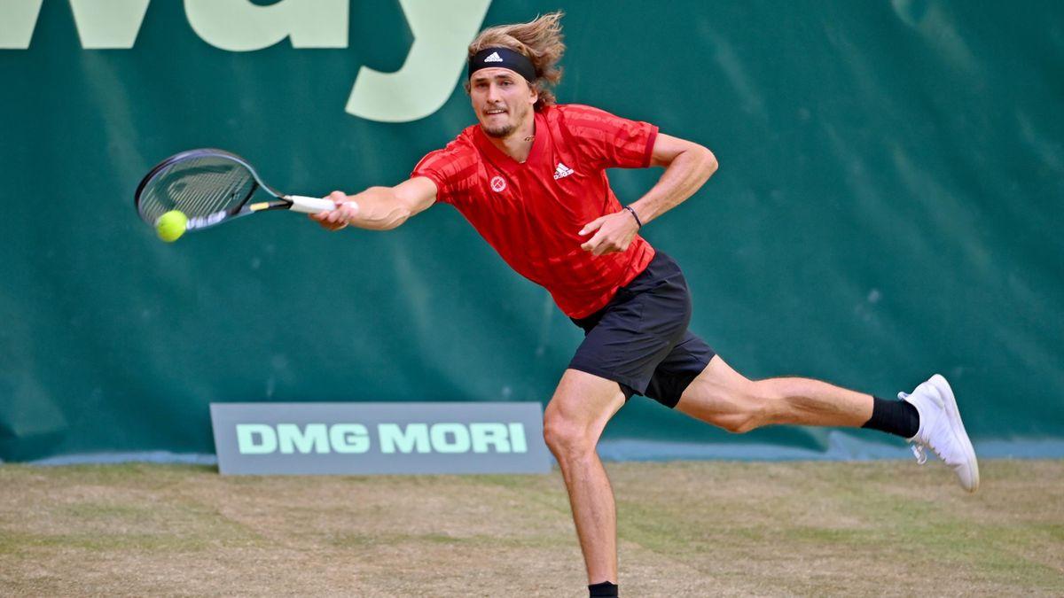 Alexander Zverev in Halle in Aktion