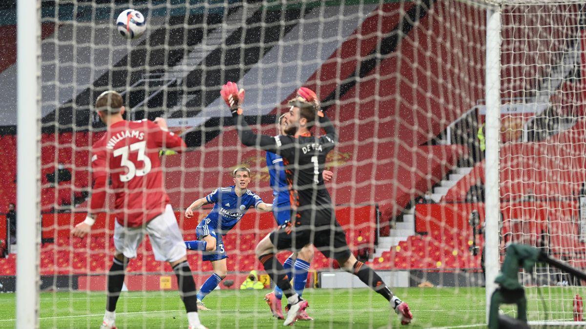 Luke Thomas (Leicester City) against Manchester United