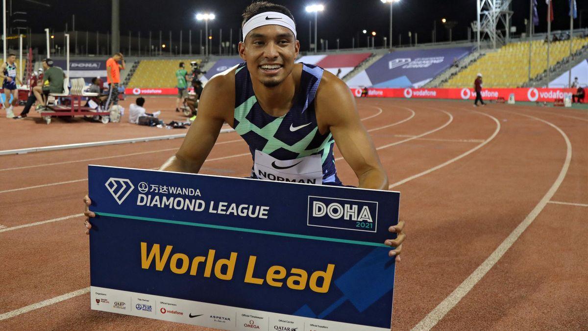 Michael Norman a réalisé la meilleure performance mondiale de l'année sur 400 m à Doha.