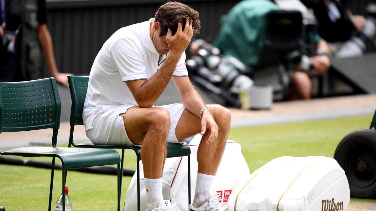 Roger Federer à Wimbledon en 2019