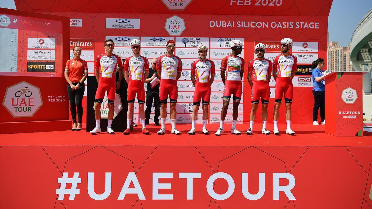 José Herrada y el equipo Cofidis, en el UAE Tour