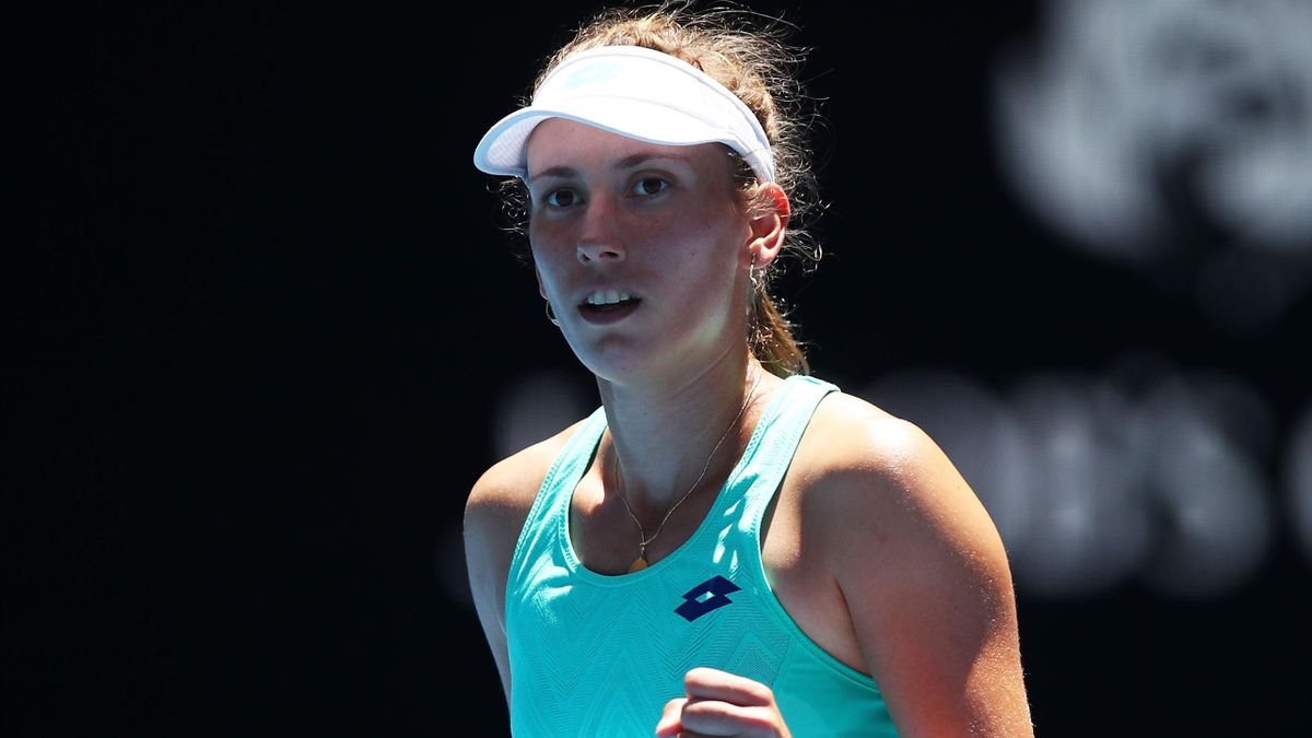 Elise Mertens lors de l'Open d'Australie 2018