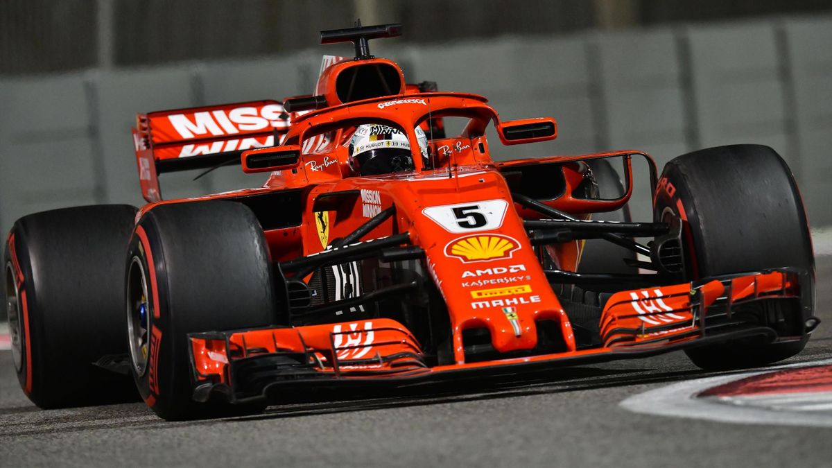 Ferrari's German driver Sebastian Vettel steers his car during the Abu Dhabi Formula One Grand Prix at the Yas Marina circuit.