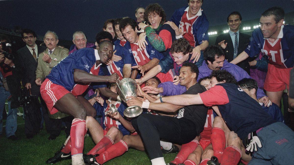George Weah et Bernard Lama parmi les vainqueurs lors du troisième sacre du PSG en Coupe de France - 1993
