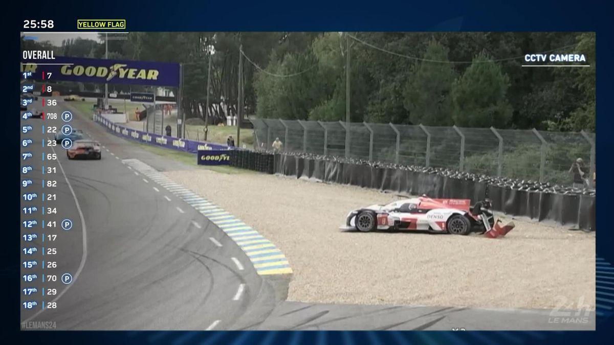 24 uur Le Mans | Hyperpole-kandidaat Nakajima crasht Toyota vlak voor moment van waarheid