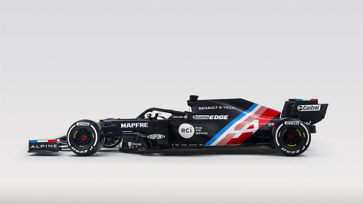 L'Alpine A521 du championnat du monde 2021 dans sa livrée provisoire