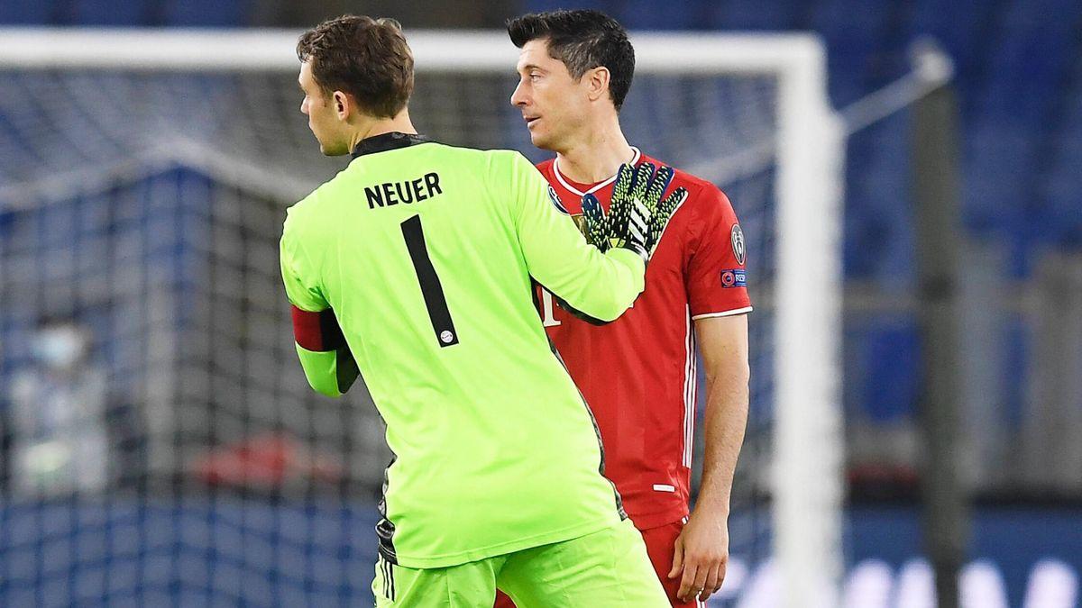 Bayern-Stars Neuer und Lewandowski