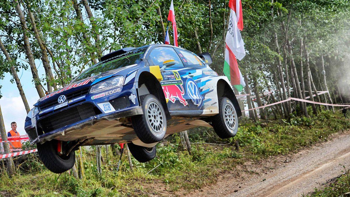 Andreas Mikkelsen lors du Rallye de Pologne