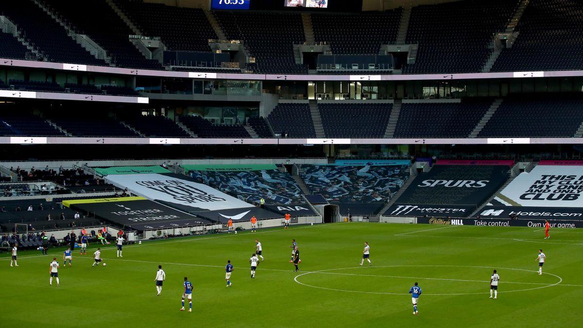 Tottenham play at empty stadium