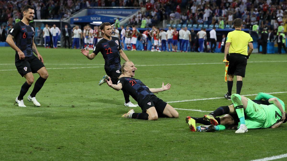 Kroatien feiert den EInzug ins WM-Halbfinale