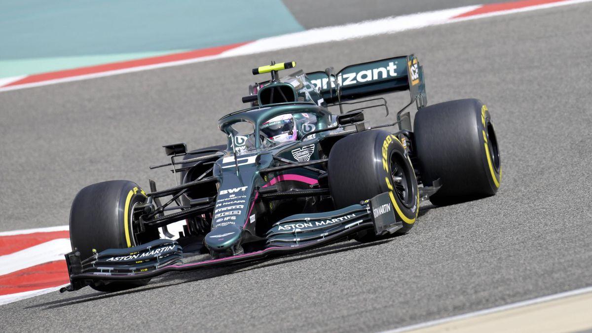 Sebastian Vettel hatte bei den Tests in Bahrain technische Probleme mit seinem Aston Martin