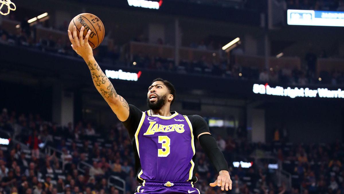 Anthony Davis lors de Los Angeles Lakers - Golden State Warriors en NBA le 27 février 2020