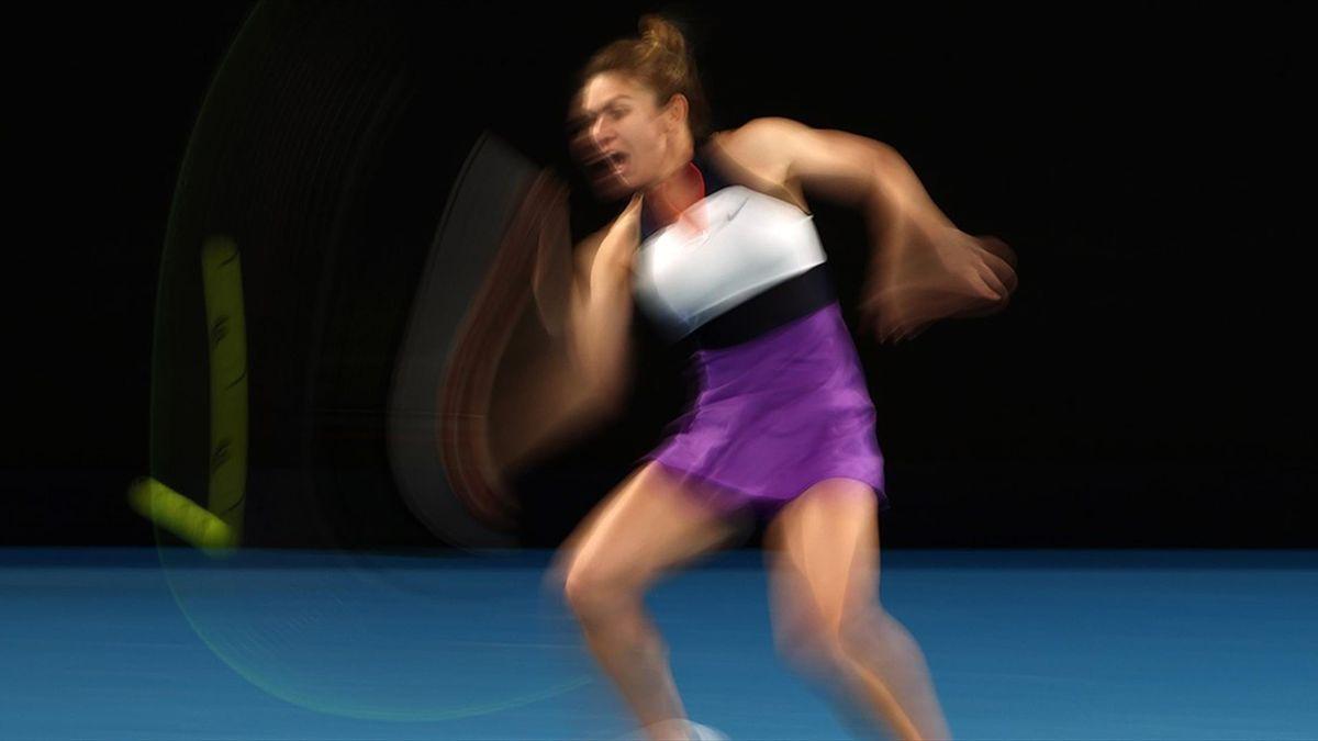 Simona Halep, în meciul cu Iga Swiatek