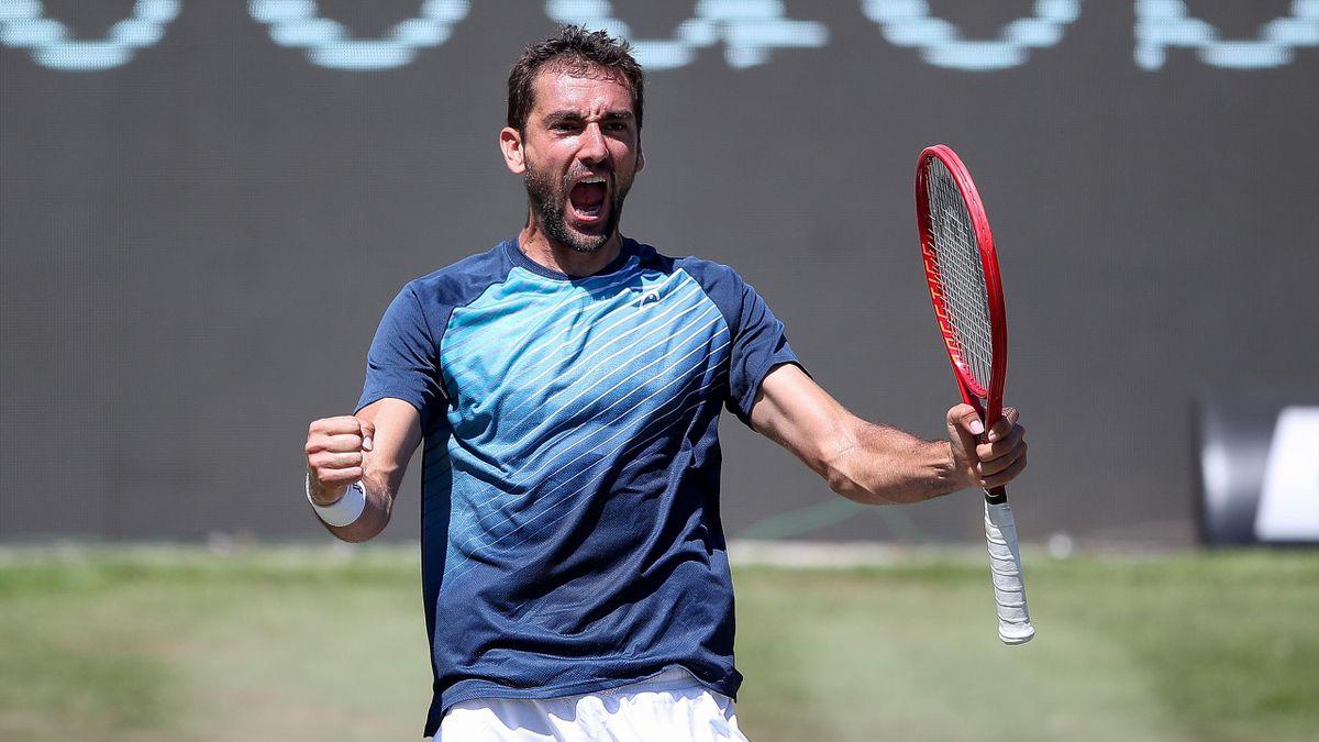 Marin Cilic jubelt über seinen Titelgewinn in Stuttgart