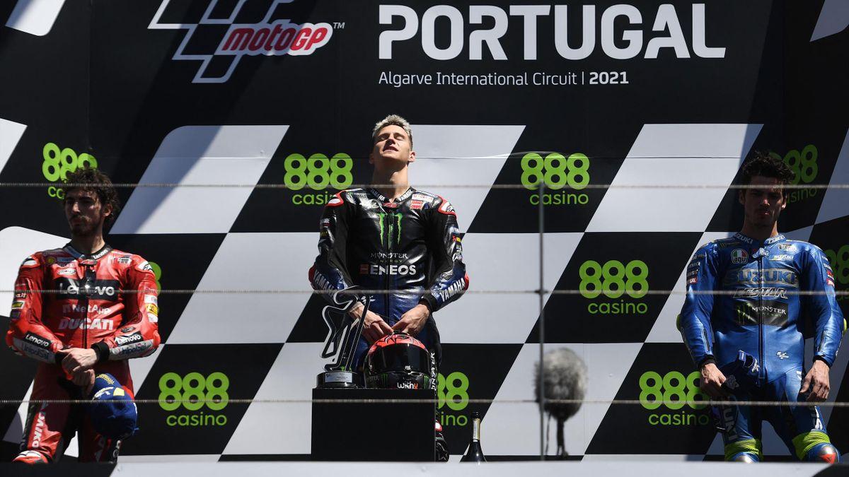 Il podio del GP di Portogallo