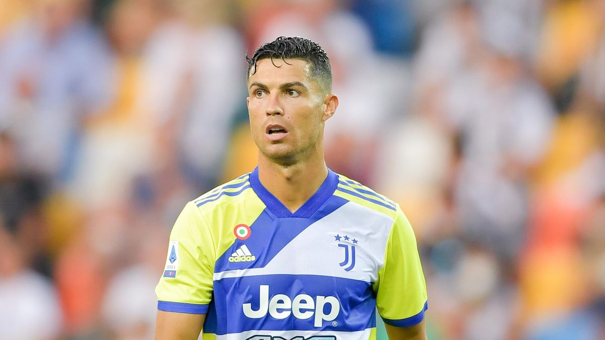 Juventus player Cristiano Ronaldo during the Serie A match between Udinese Calcio v Juventus at Dacia Arena on August 22, 2021 in Udine, Italy.