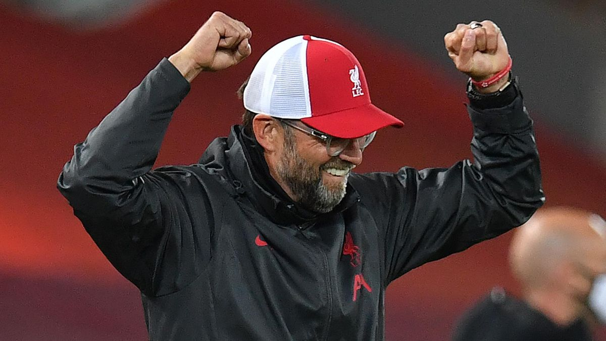 Jurgen Klopp celebrates Liverpool's 3-1 win over Arsenal