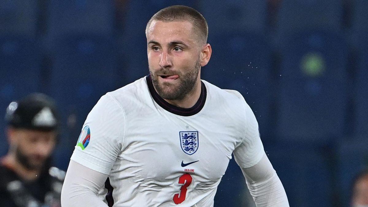 Luke Shaw at Euro 2020