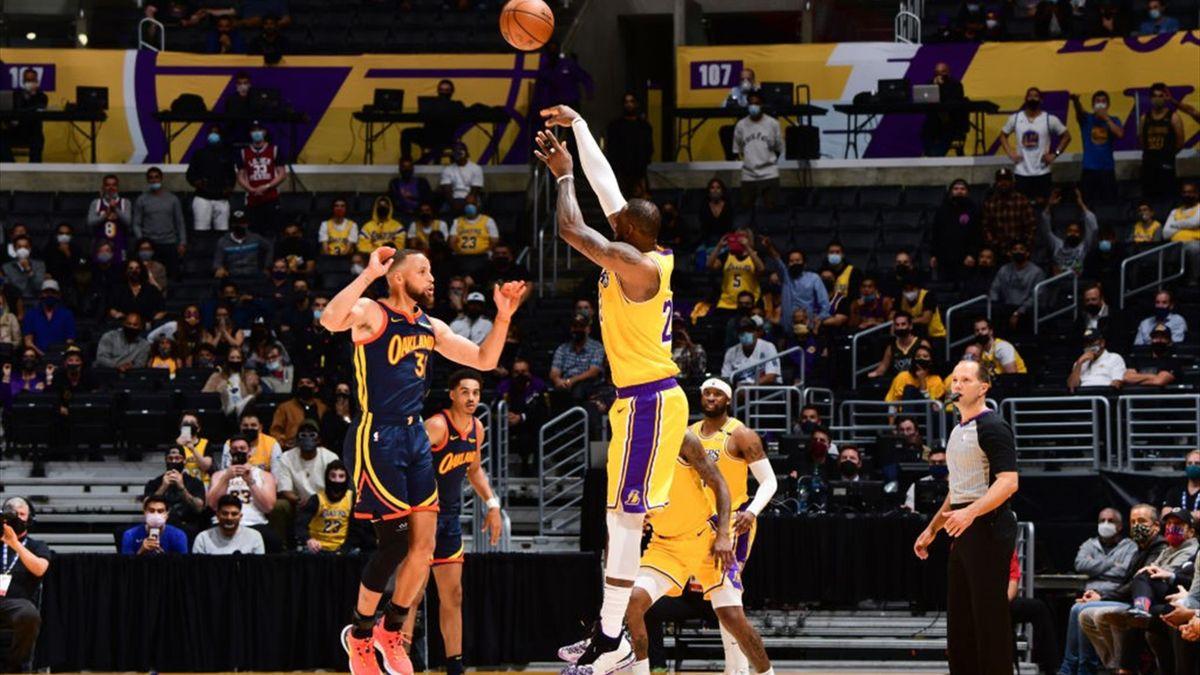 Lakers vs Warriors: game winner di Lebron James