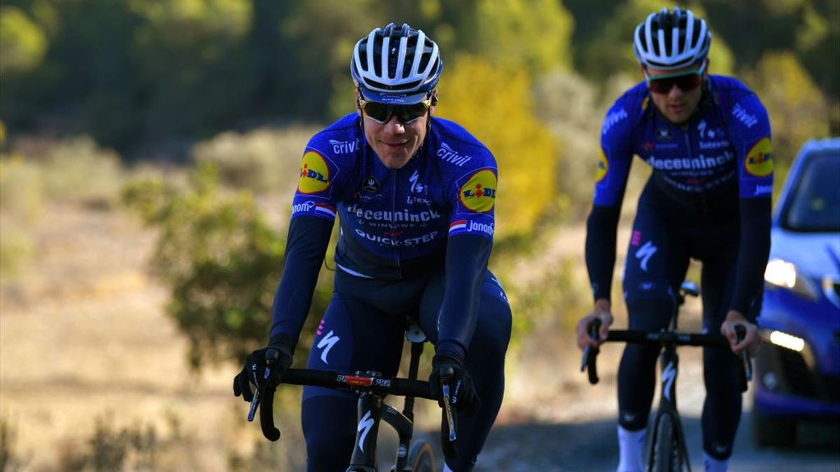 Fabio Jakobsen in allenamento con la Deceuninck Quick Step dopo l'incidente del 2020 - Getty Images