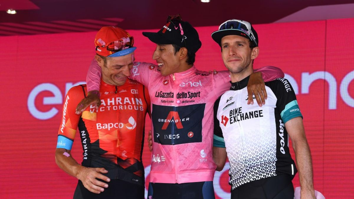 Egan Bernal, Damiano Caruso, Simon Yates - Giro d'Italia 2021