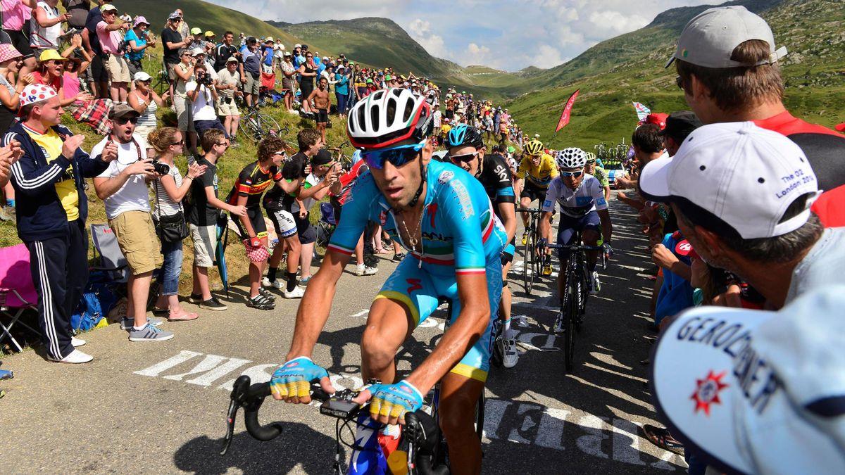 Vincenzo Nibali (Astana) durant le Tour de France 2015