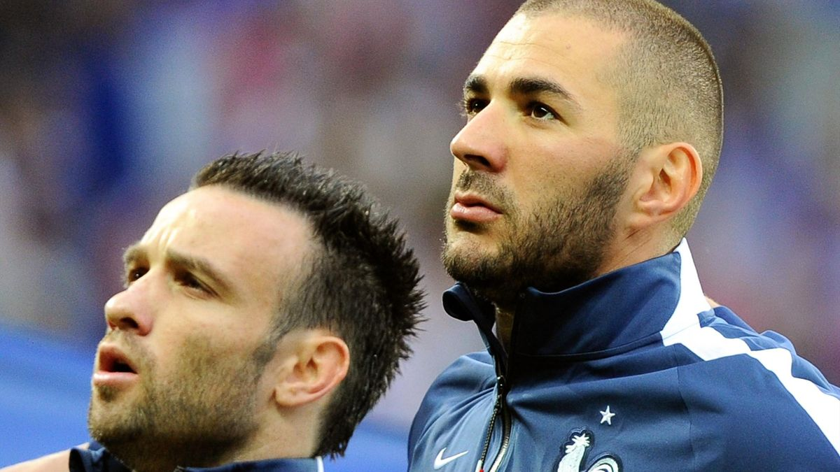 Benzema et Valbuena sous le maillot des Bleus