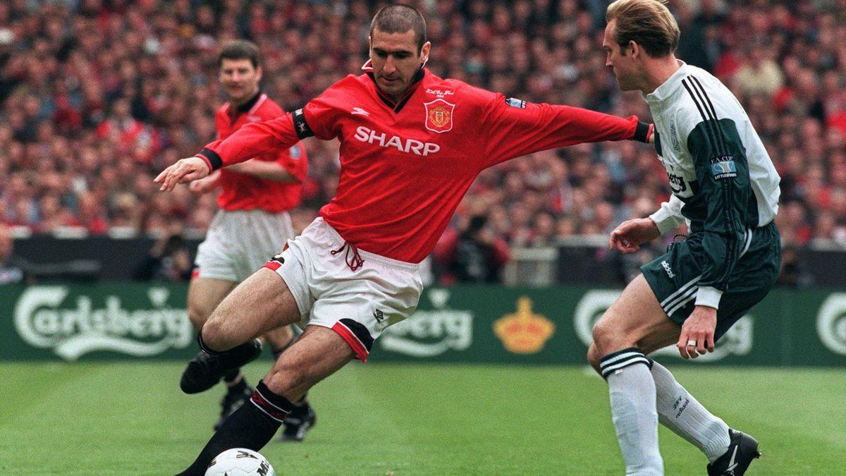 Eric Cantona sous le maillot de Manchester United en 1996