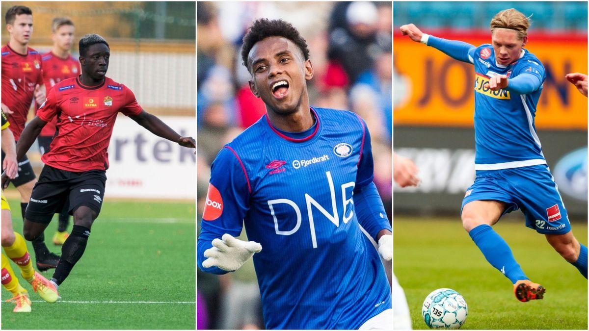 Franklin Daddys Boy Nyenetue, Abdisalam Ibrahim og André Södlund viser seg fram for Sandefjord.