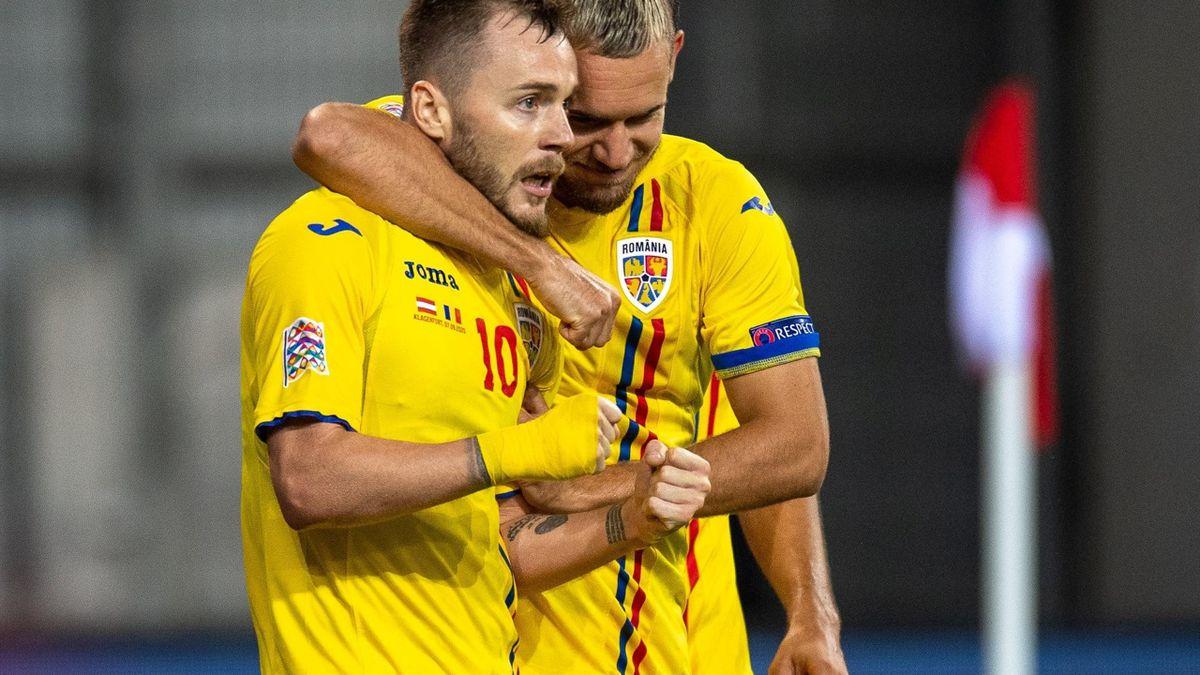 Alex Maxim și George Pușcaș, 2 dintre jucătorii naționalei României