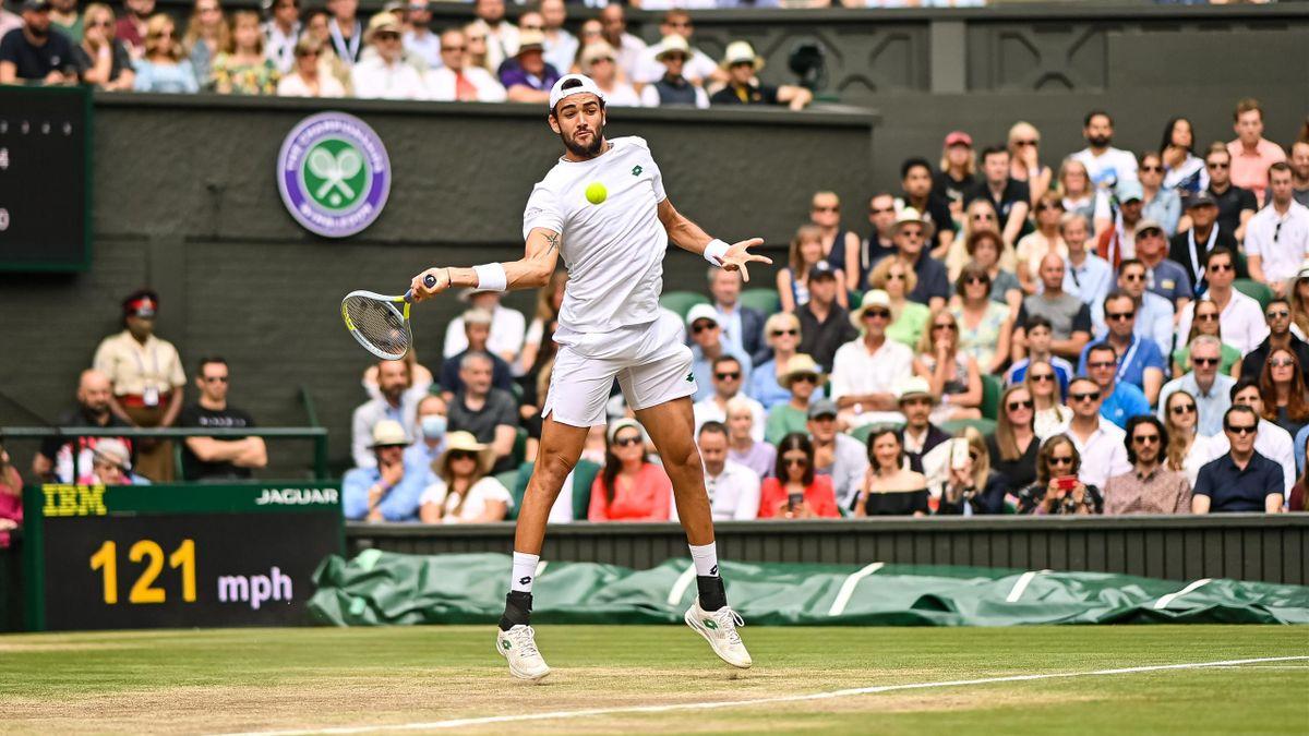 Matto Berrettini in Wimbledon