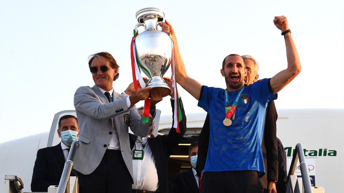 Mancini et Bonucci de retour à Rome