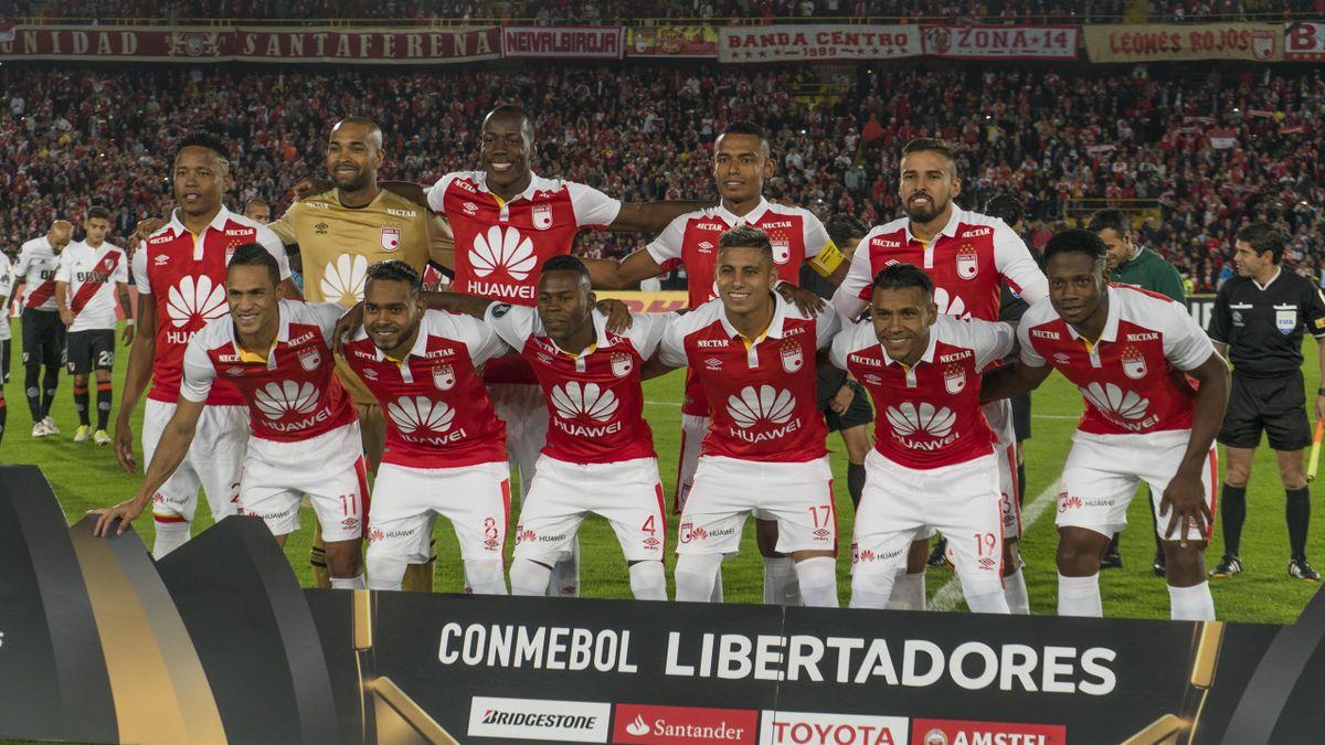 Les joueurs de Santa Fe en Copa Libertadores en 2018