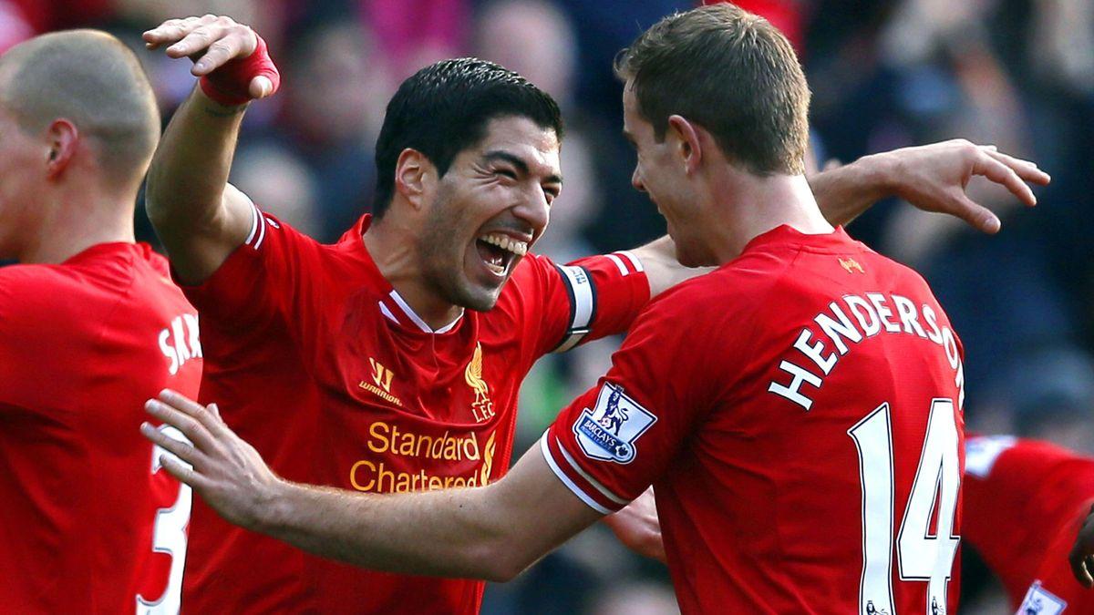 Luis Suarez and Jordan Henderson (Reuters)