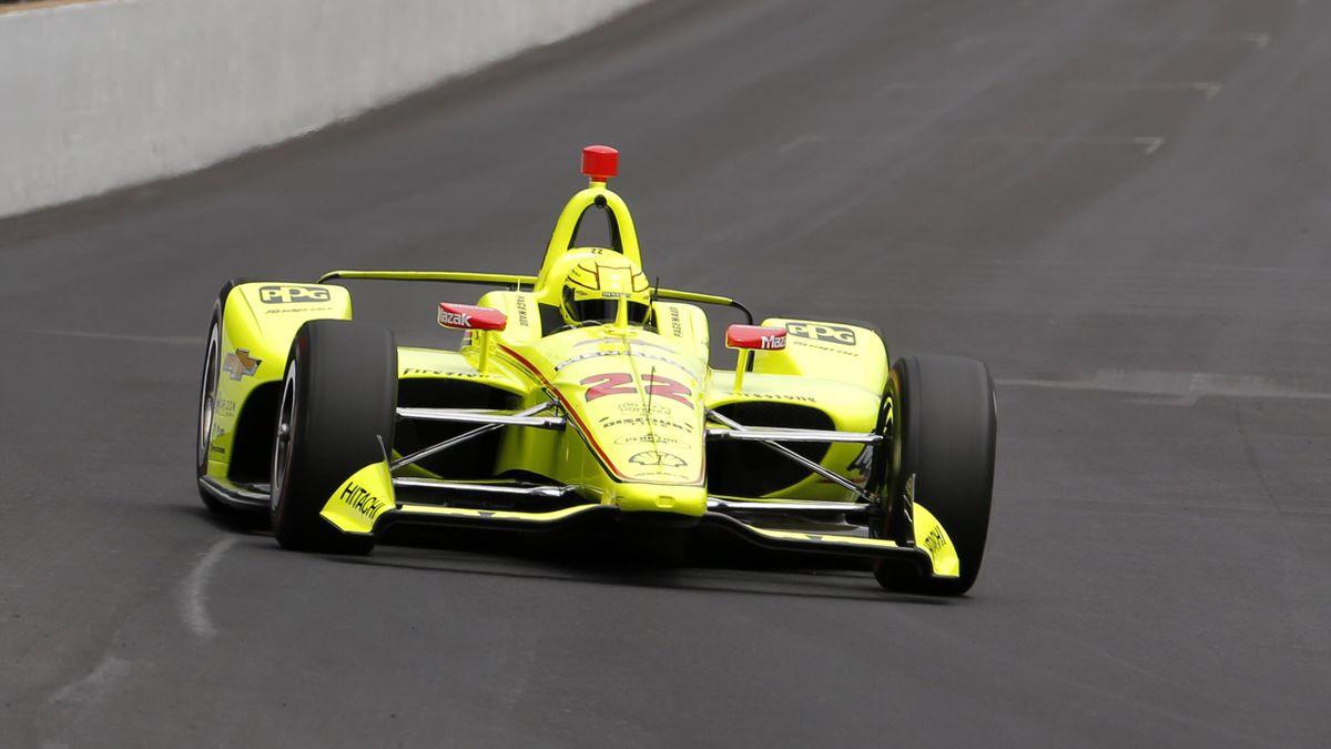 Simon Pagenaud (Penske) lors des essais des 500 Miles d'Indianapolis vendredi