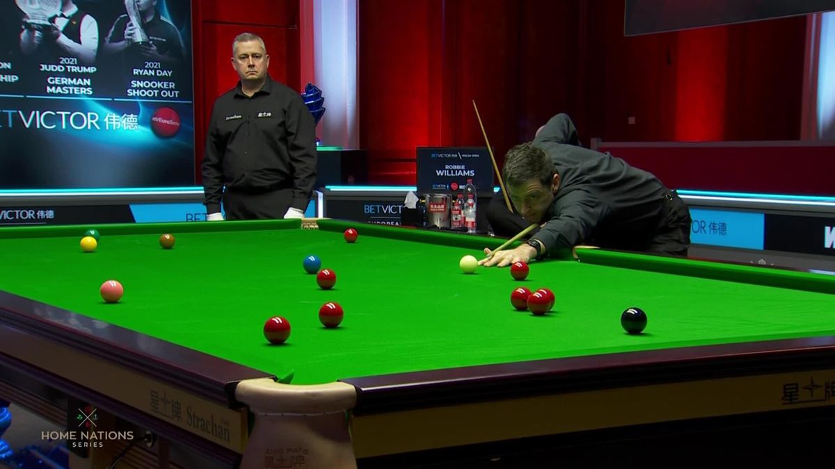 Snooker Welsh Open - Ronnie O'sullivan break in the 2nd frame vs Williams