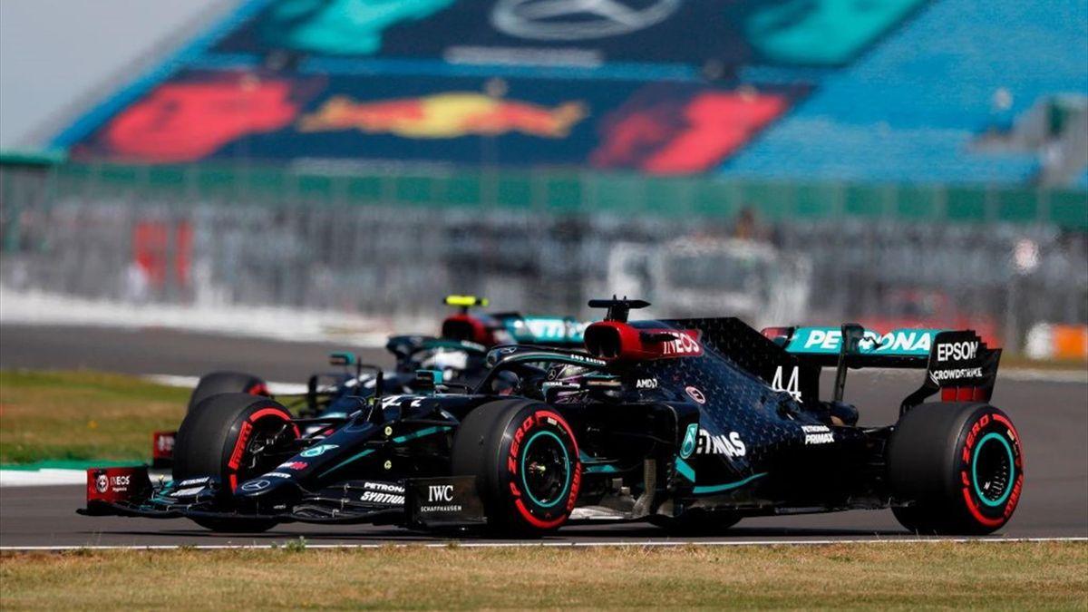 Lewis Hamilton et Valtteri Bottas (Mercedes) au Grand Prix du 70e anniversaire 2020