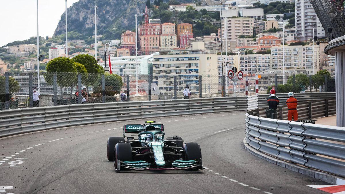 Sebastian Vettel (Aston Martin) in Monte Carlo