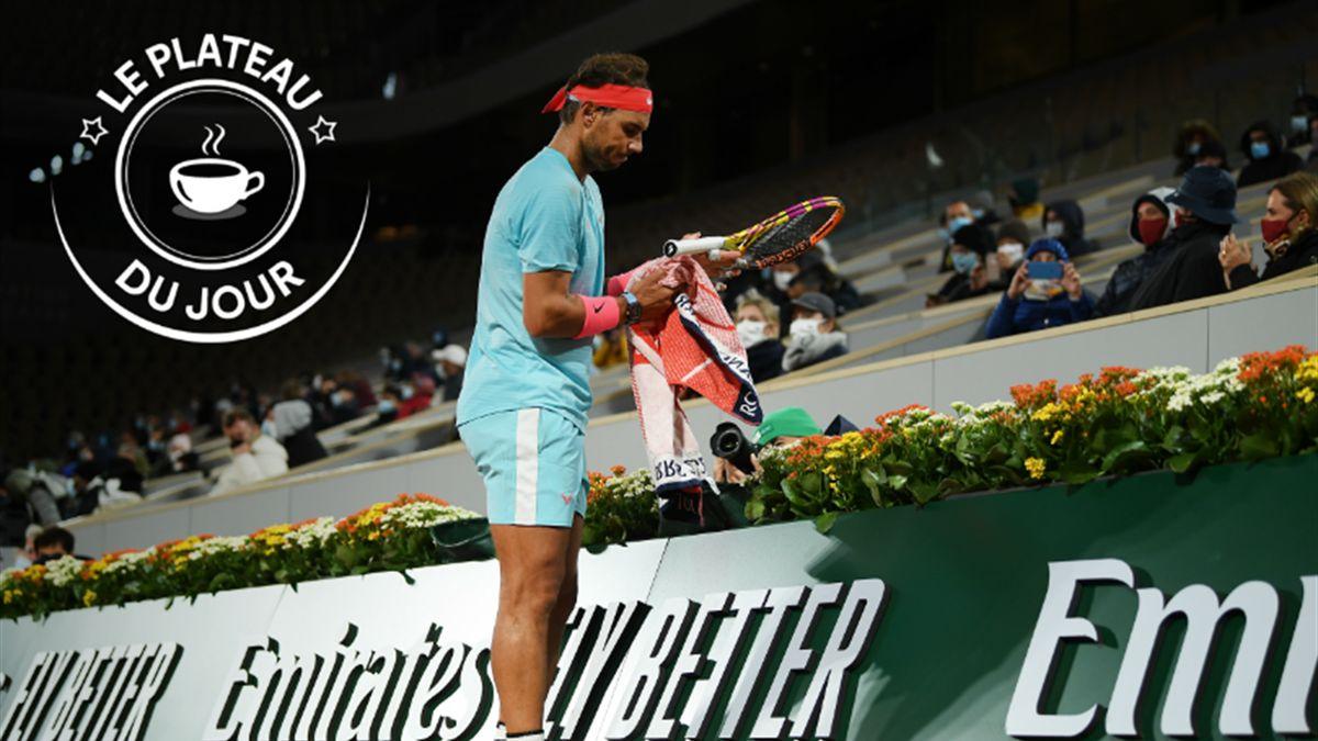 Rafael Nadal à Roland-Garros dans la nuit du 6 au 7 octobre