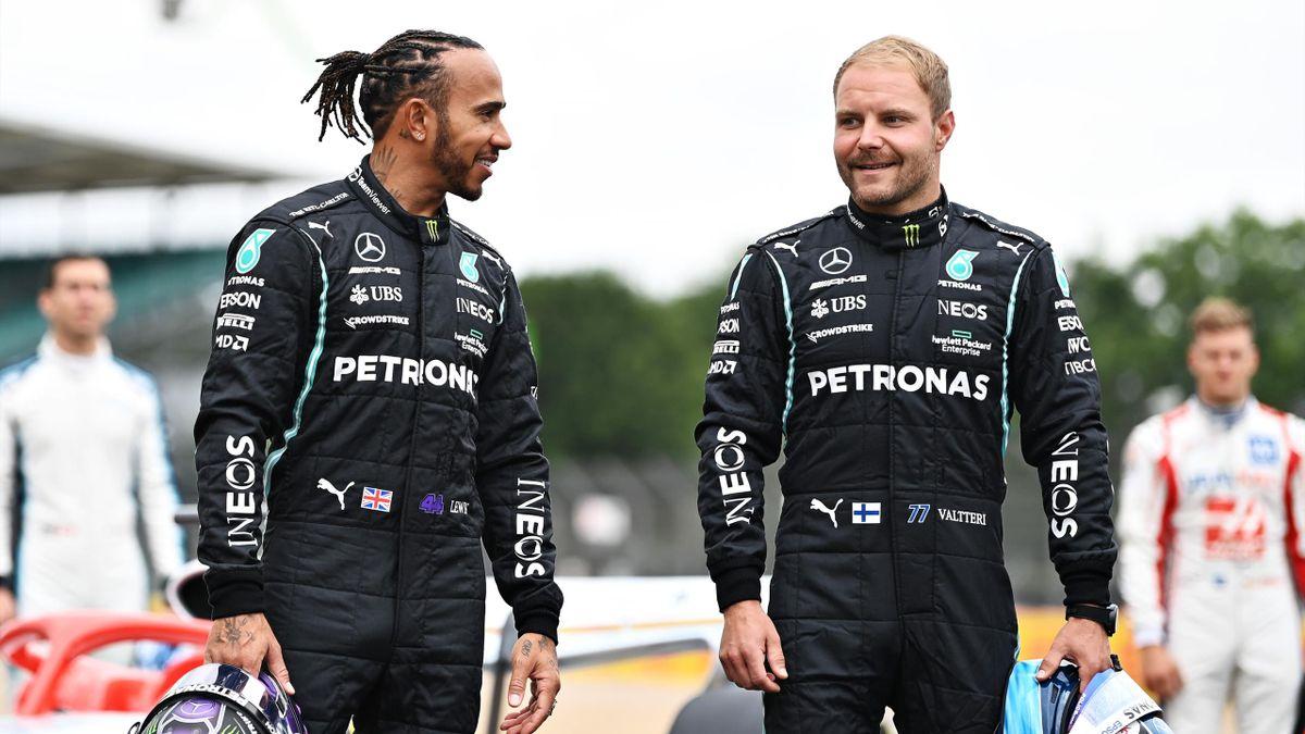 Hamilton e Bottas, 2021