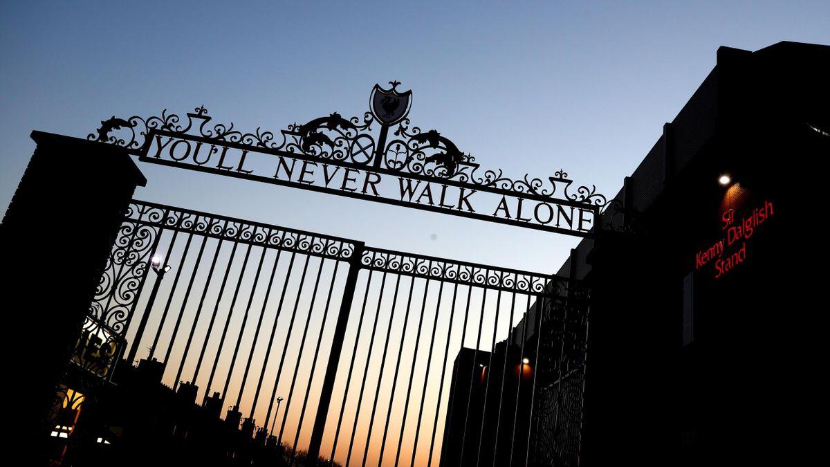 """The Liverpool gates"" à Anfield"