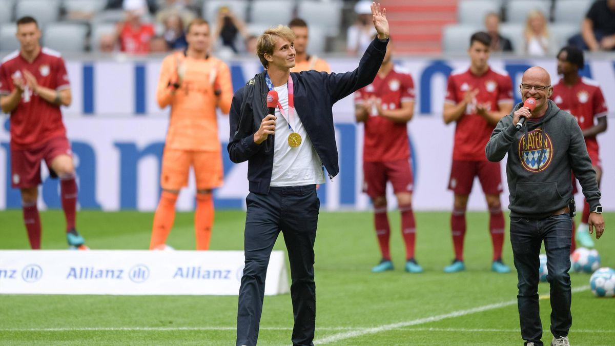 Alexander Zverev beim FC Bayern München