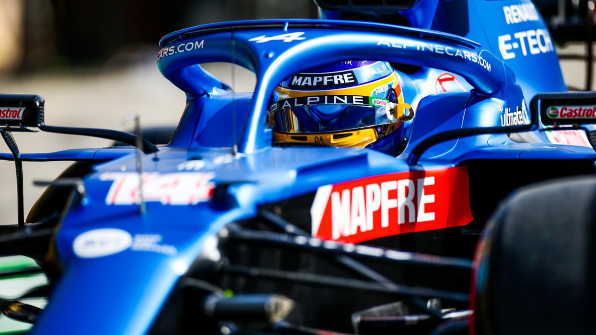 Fernando Alonso (Alpine), en el Gran Premio de Bahrein