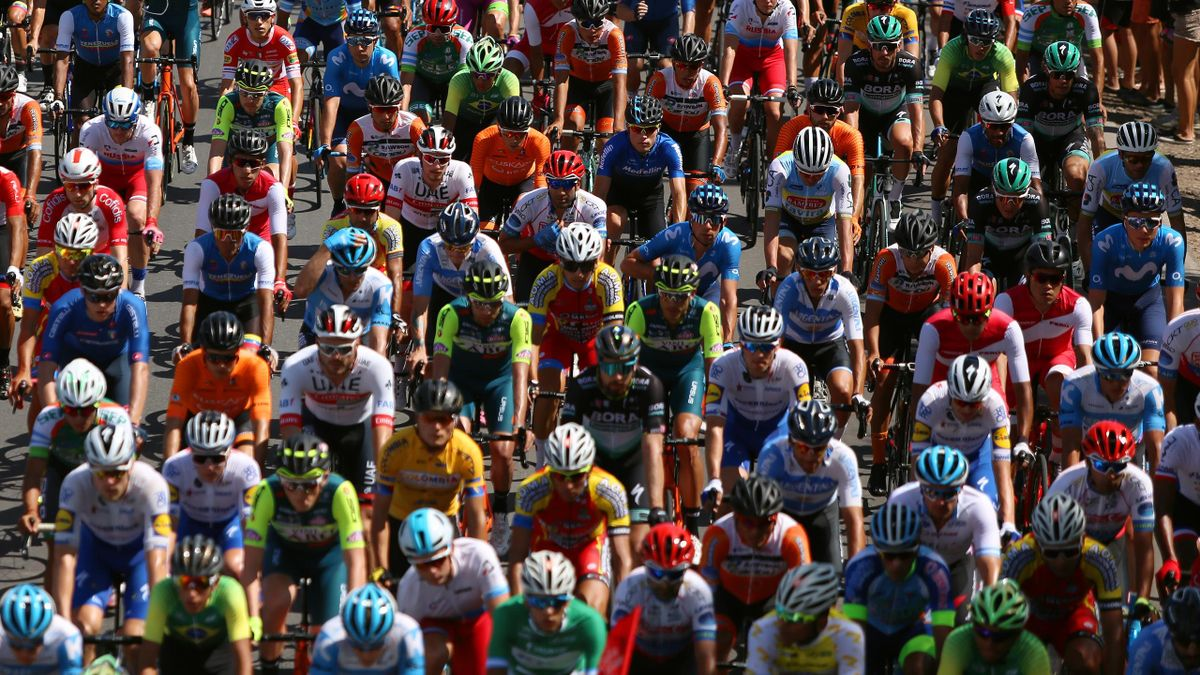JANUARY 27: Peloton / Detail view / during the 38th Vuelta a San Juan International 2020, Stage 2 a 150km stage from Pocito to Pocito / @vueltasanjuanok / #VueltaSJ /on January 27, 2020 in San Juan, Argentina