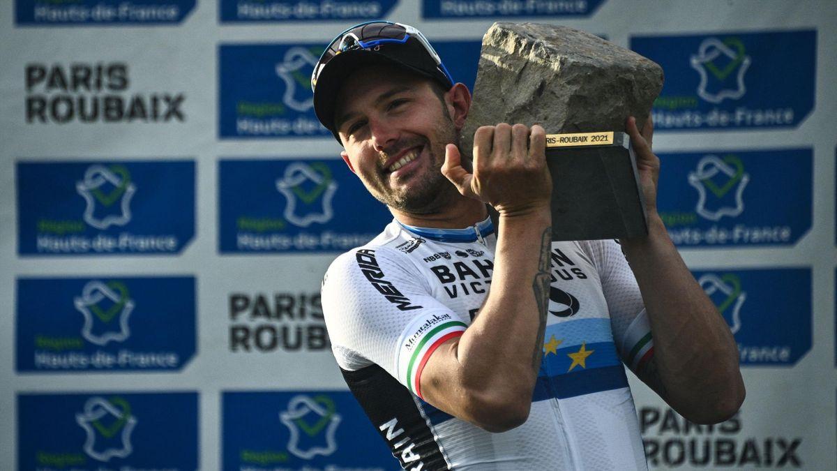 Sonny Colbrelli (Bahrain Victorious). París-Roubaix 2021