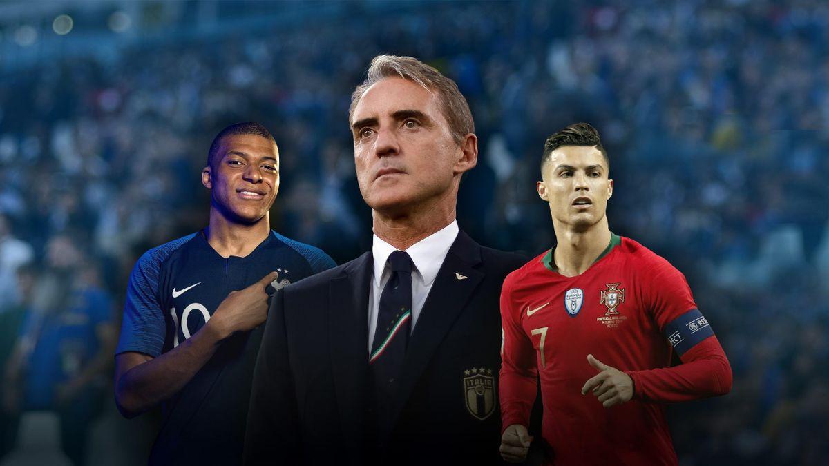 Copertina Mancini, Mbappè, Ronaldo