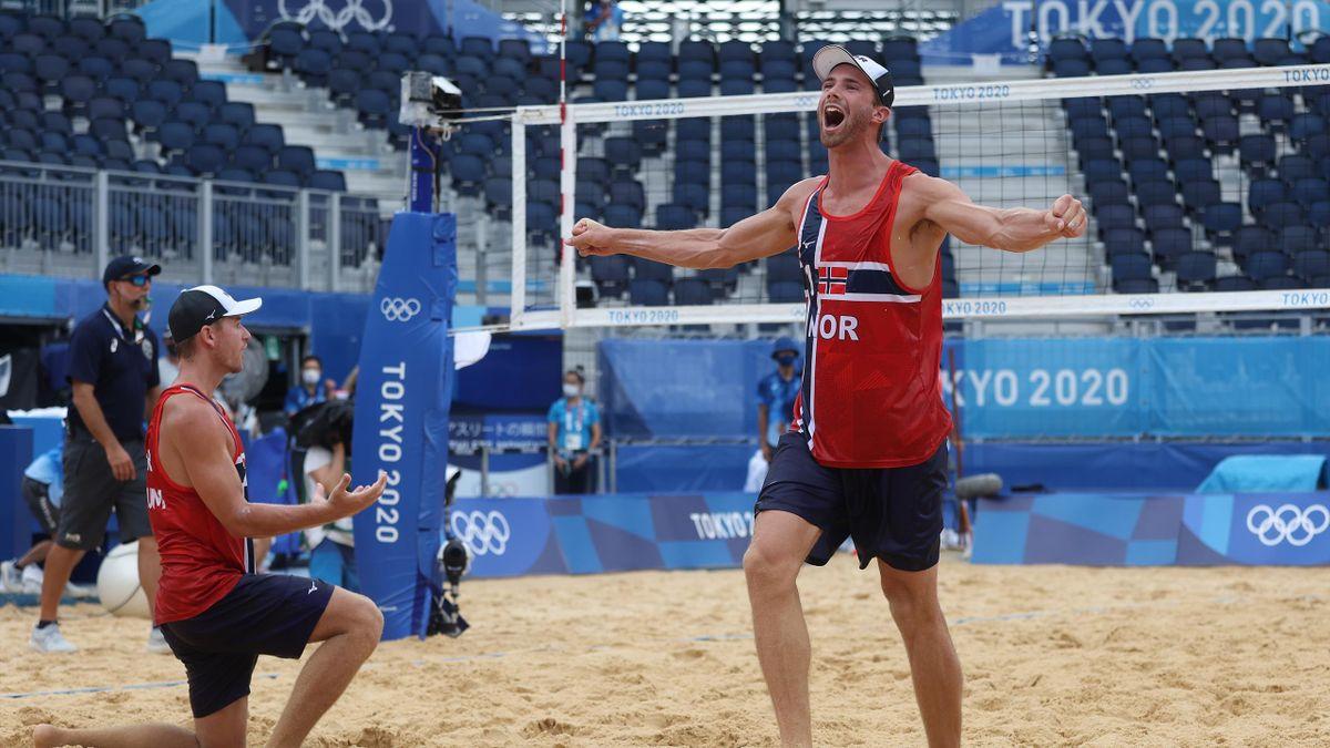 Norwegen holt Gold im Beachvolleyball