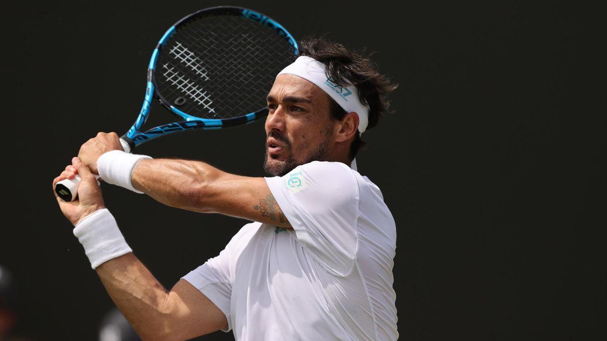 Fabio Fognini a Wimbledon 2021