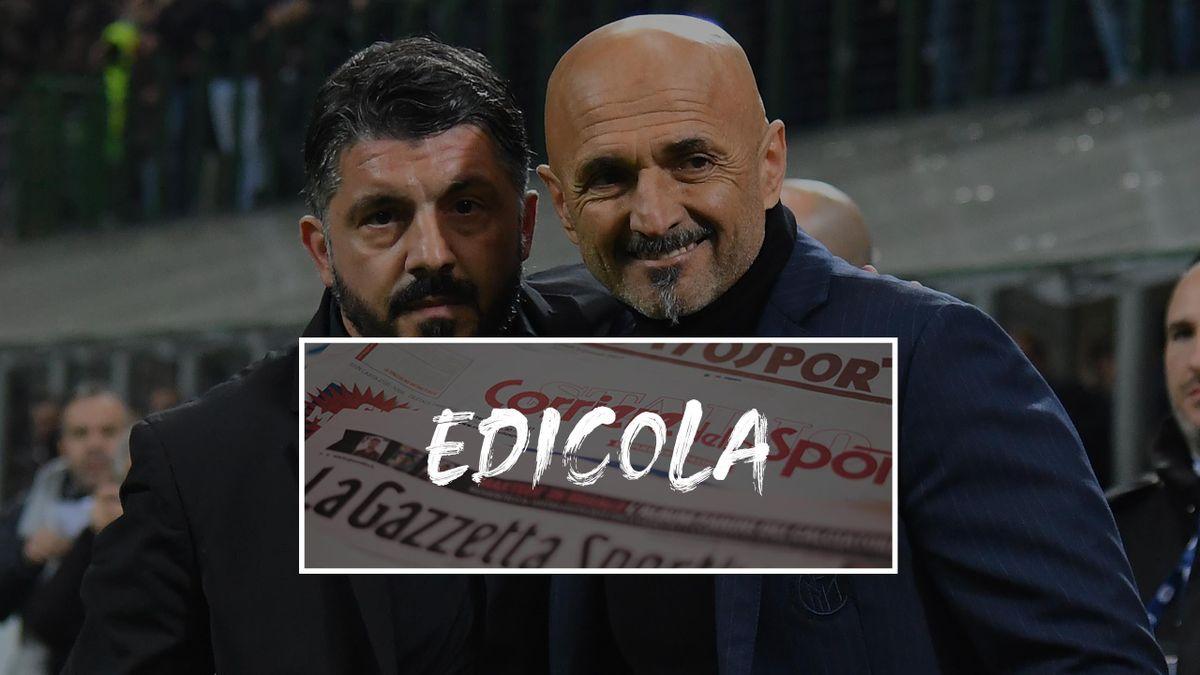 Edicola Gattuso e Spalletti